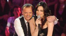 Gigi D'Alessio con Anna Tatangelo (Ansa)