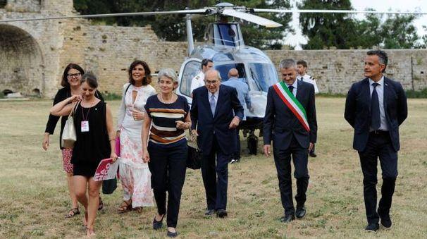 L'arrivo di Irina Bokova (foto Calavita)