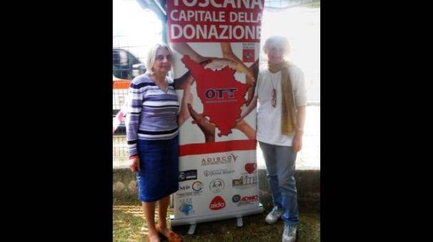 Loriana Collaveri (a destra) con Alessandra Campagnanodi Admo Toscana