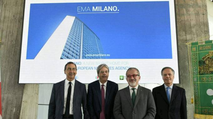 Milano si candida per l'Ema (Foto Twitter)
