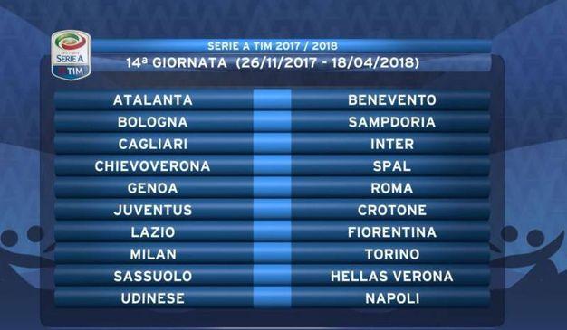 Calendario Serie A 2017-2018 (Twitter@SerieA_TIM)