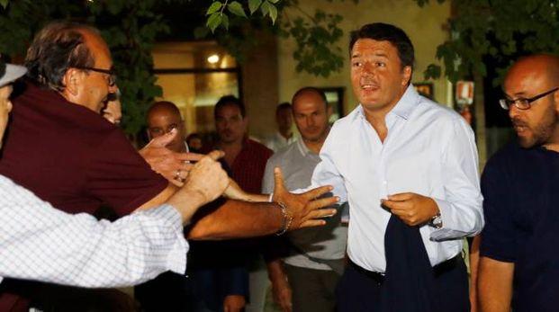 L'arrivo di Matteo Renzi (foto Fiocchi)