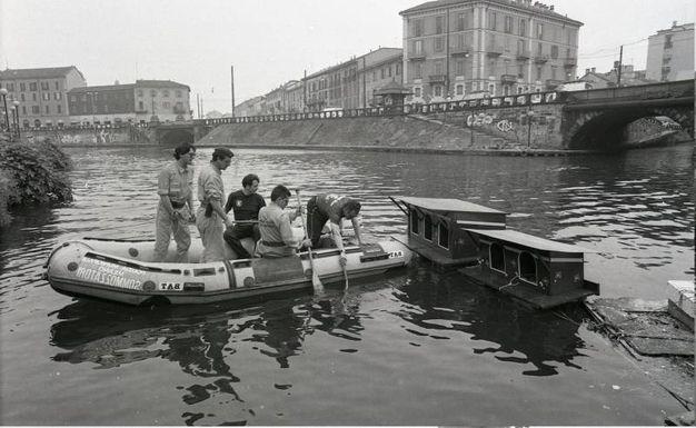 Darsena e Navigli, le foto storiche (Newpress)