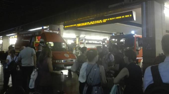 Allarme alla stazione di Santa Maria Novella