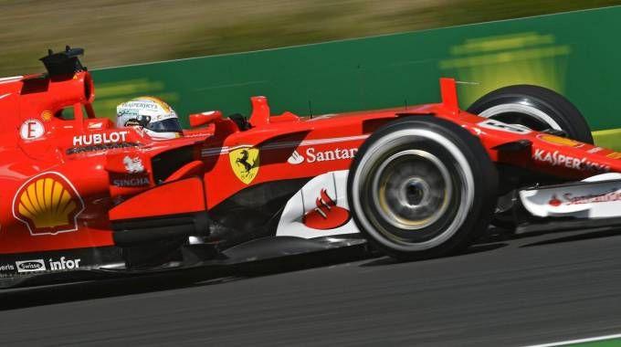 Gp di Ungheria, Sebastian Vettel nella terza sessione di libere (ansa)