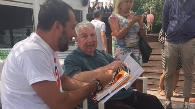 Matteo Salvini della Lega Nord con Riccardo Chiesa