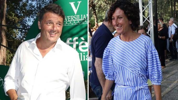 Matteo Renzi e la moglie Agnese Landini alla Versiliana