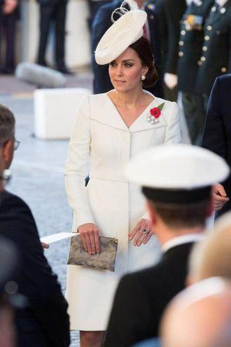 Kate Middleton in Belgio (Ansa)Afp)
