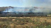 Maxi incendio a San Severino