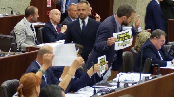 La protesta in Aula