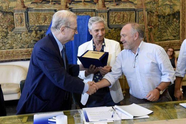 Soffritti, Tagliani e Bottoni (foto Businesspress)