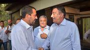 Matteo Salvini con il direttore della Nazione Francesco Carrassi (foto Umicini)