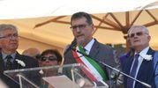 Il sindaco Merola durante la cerimonia in stazione (Foto Schicchi)