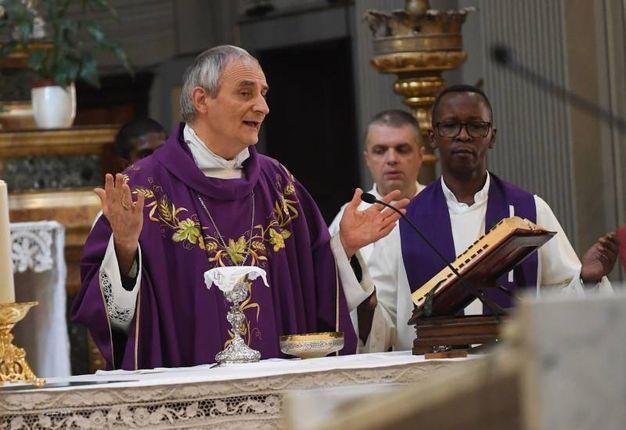 La messa celebrata da Zuppi per il 2 agosto (Foto Schicchi)