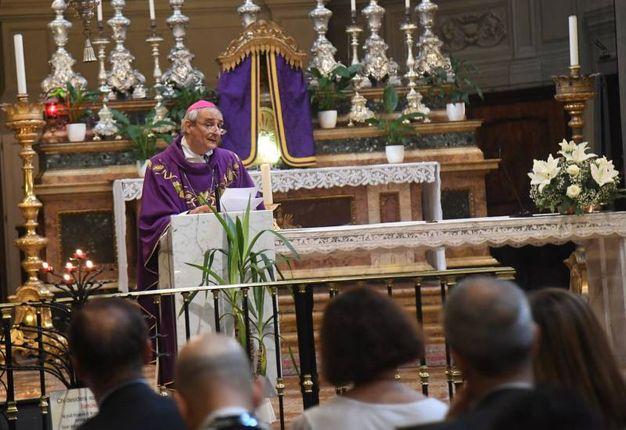 La messa si è tenuta nella chiesa di San Benedetto, in via Indipendenza 64 (Foto Schicchi)