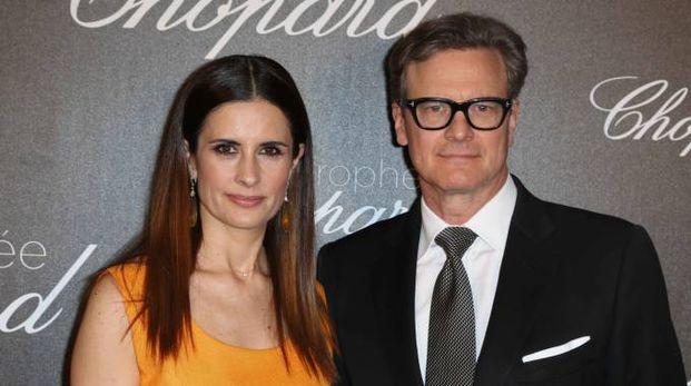 COPPIA GLAMOUR Colin Firth con la moglie Livia Giuggioli originaria di Città della Pieve