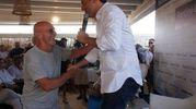 Anche Sacchi sfida l'afa per vedere Renzi (foto Corelli)