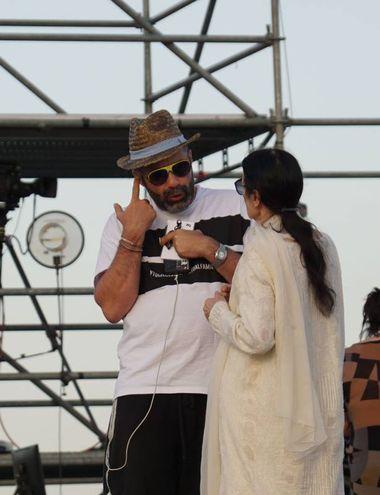 Carla Fracci e Luca Tommassini prima dello spettacolo (Sarah Esposito/Fotocronache Germogli)