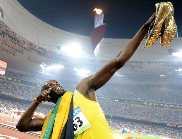 La prima vittoria di Usain Bolt ai Giochi Olimpici. Correva l'anno 2008 e, a Pechino, correva anche Bolt conquistando due ori nei 100 e 200 metri piani (Afp)