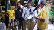 Renzi durane l'incontro a Pistoia (Acerboni / FotoCastellani)