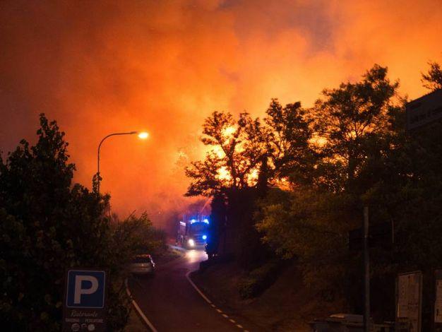 Inferno di fuoco nel territorio di Casteldimezzo