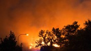 Notte di paura: l'incendio sul Parco San Bartolo