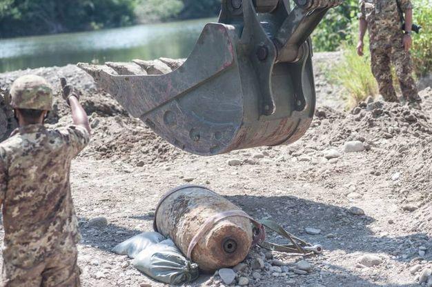L'origno è una bomba d'aereo di origine statunitense (Foto Schicchi)
