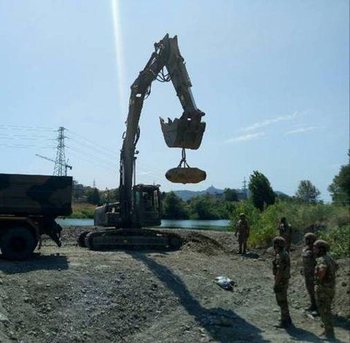 La bomba ritrovata in zona Pontelungo