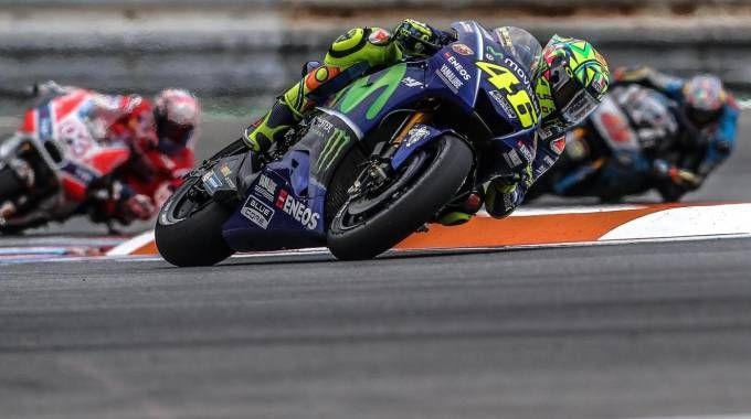 Valentino Rossi a Brno (Ansa)