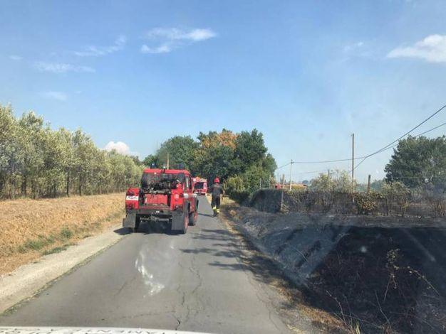 Incendio in località Carrai (foto Comune di Altopascio)