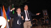Il maestro Massimo Bomba con il Marchese della Fontanazza