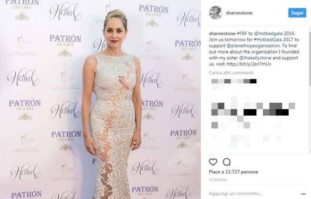 Sharon Stone su Instagram