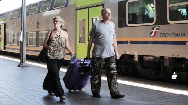 Turisti alla stazione