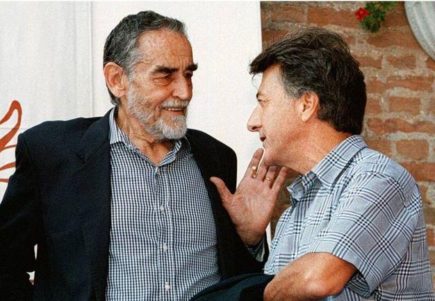 Con Vittorio Gassman con cui girò 'Sleepers' (Ansa)