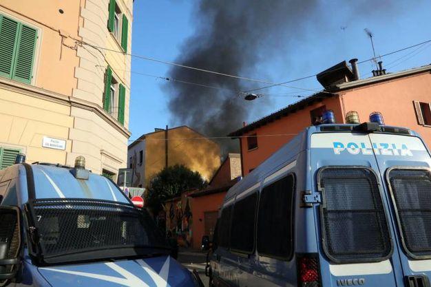 Fumo sul quartiere Santo Stefrano (Schicchi)