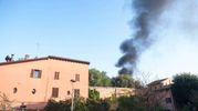 La colonna di fumo sul centro città (Schicchi)