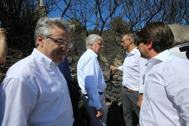 Il ministro Galletti col sindaco Ricci (Fotoprint)