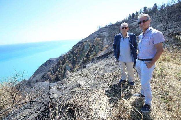 A Casteldimezzo Fabio Salbitano, prof Unifi, con Carlo Urbinati Politecnico delle Marche (Fotoprint)