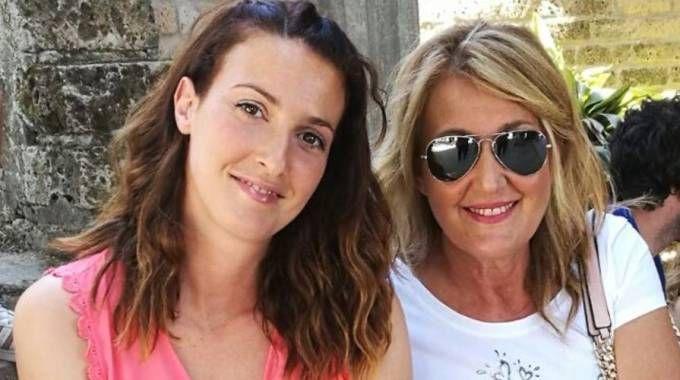 Marzia Bartoletti con l'amica Antonella