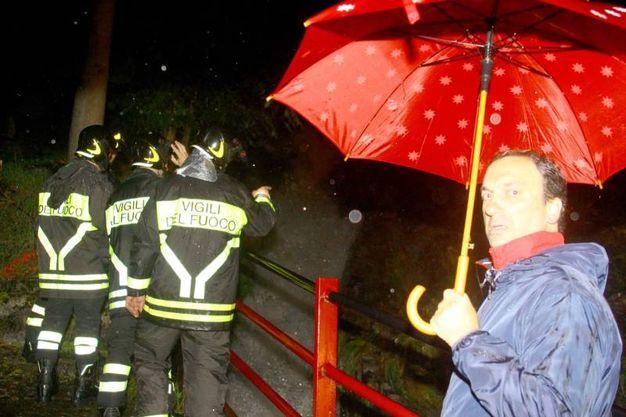 Vigili del fuoco in azione a Caspoggio (Orlandi)