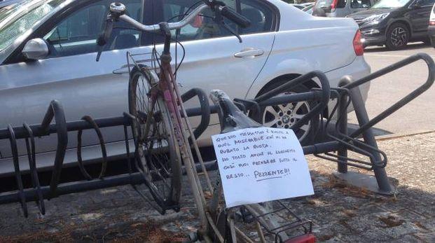 Messaggio sulla bicicletta