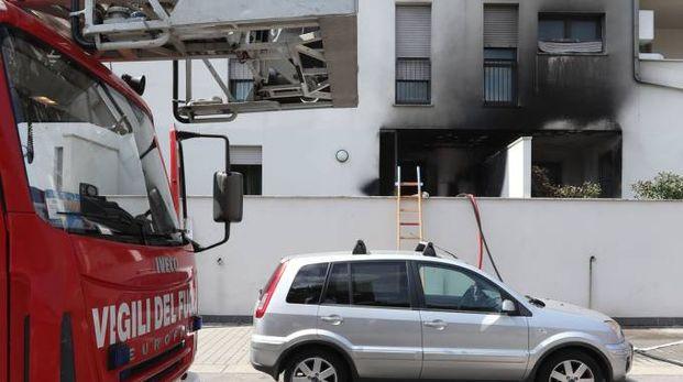 Incendio a Sanpolino