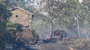 I danni dell'incendio (foto Walter Bellisi)