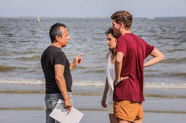 Il regista del videoclip con l'attrice Sofia Tassinari Di Pietro (Foto Andrea Samaritani)