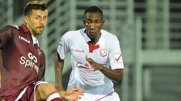 Lamin Jawo in azione in Coppa Italia contro il Livorno