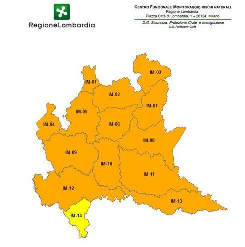 Allerta meteo in Lombardia