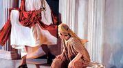 Un momento intenso della rappresentazione teatrale (Foto Ravaglia)
