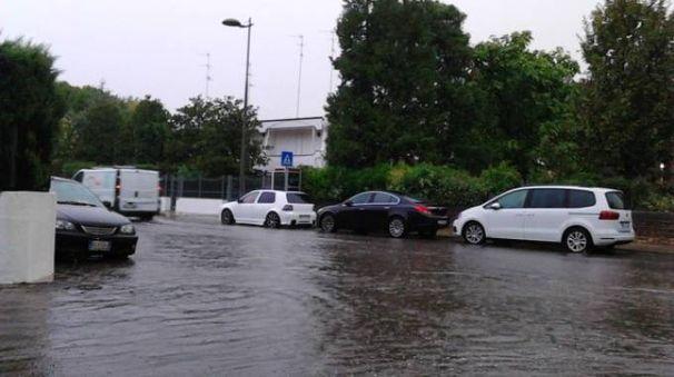 Ferrara, maltempo ai Lidi (foto Cinti)