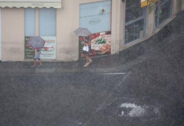 Nubifragio a Brescia (Fotolive)