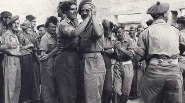 Un'immagine della festa della Liberazione di Firenze dalle truppe nazifasciste nel 1944